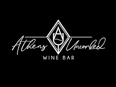 Athens Uncorked Logo wine glass athens ohio wine bar ohio athens wine