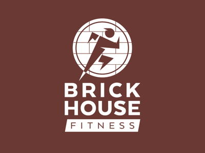 Brick House Fitness Logo brick running fitness