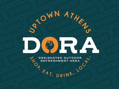 Uptown Athens Ohio DORA Logo ohio university wine beer drinking dora athens
