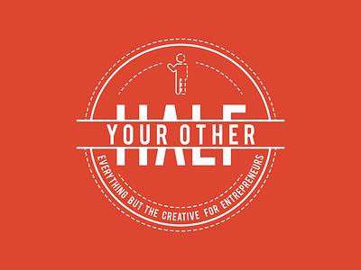 Your Other Half Logo logo badge crest creative