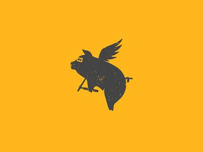 Tiglet pig wings logo welding tig flying pig