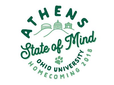 Athens State of Mind - Ohio University Homecoming 2018 FINAL campus badge logo college bobcats athens ohio ohio university