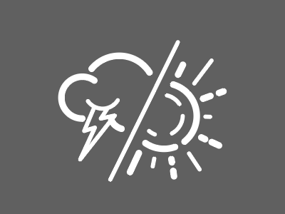 Weather Forecast Icon cloud lightning storm sun weather