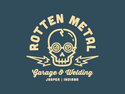 Rotten Metal Garage muscle cars cars hotrod garage metal welding skull