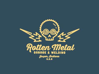 Rotten Metal Garage welding cars garage metal skull