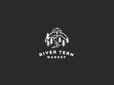 River Tern Market ohio hills logo river bird