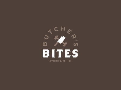 Butcher's Bites clever barbell fitness logo meal prep