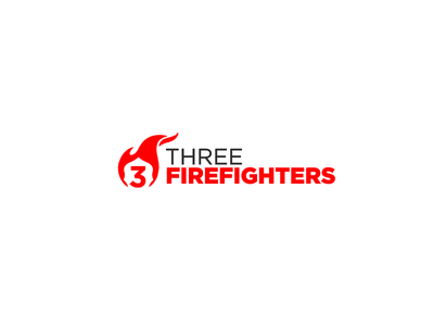 Three Firefighters 3 patch helmet flame firefighter fire