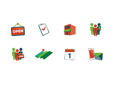 Chamber of Commerce Icon Set small business icons business chamber