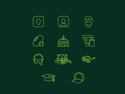 Ohio University App Icon Set athens ohio university ohiou ohio