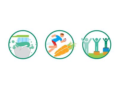 Non Profit Health Icon Set non profit healthy running icons set icons health