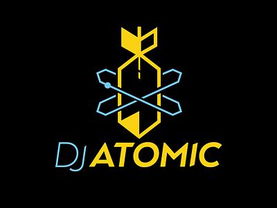 DJ Atomic Logo logo bomb atomic dj