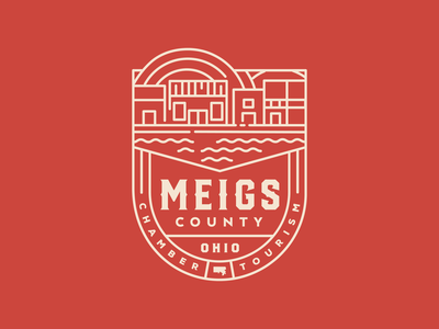 Meigs County Chamber and Tourism Logo tourism county meigs crest logo crest