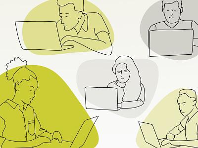 Coming Together in a Crisis, Online sketch blog computer design agency development agency illustration