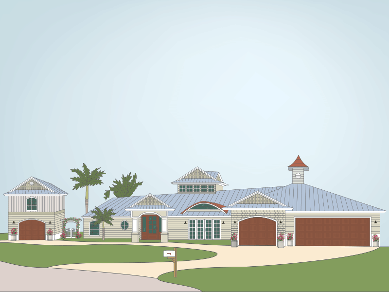 We've Moved! Announcement florida new home announcement illustration house