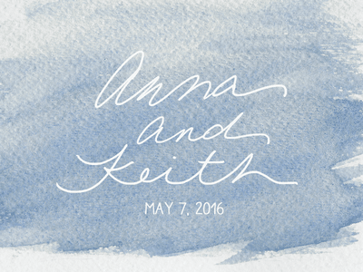 Watercolor Save the Date wedding script lettering watercolor save the date