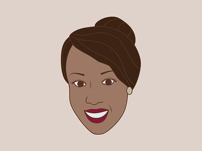 Jasmine face cartoon avatar illustration