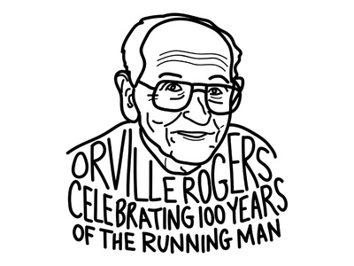 Orville Rogers, 100 years of the running man