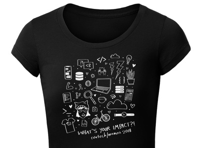 What's Your Impact? women in tech women technology illustration tshirt