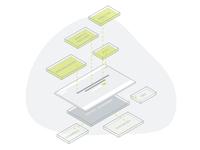 Dynamic Website Illustration