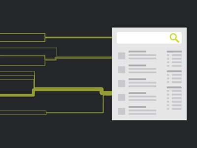 The Anatomy of Search development illustration search results search and discovery search engine
