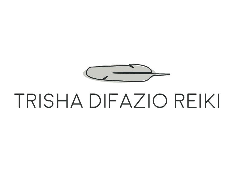 Reiki Logo Option branding reiki feather logo