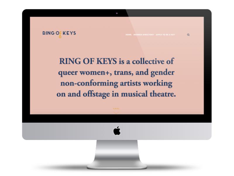 RING OF KEYS Landing Page funhome website theatre keys queer logo key branding