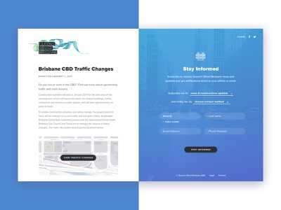 Stay up to date! image map drop down subscribe form split screen clean ui ux