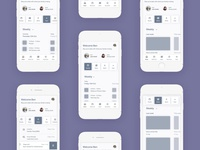 Mobile home page wireframes