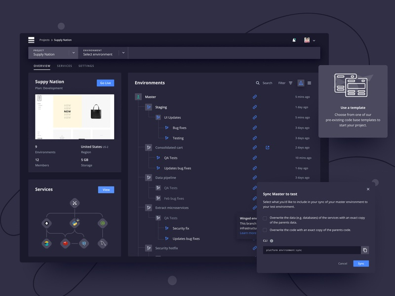 Your project in dark mode modal enterprise app dark theme dark app dark mode dark ui ux