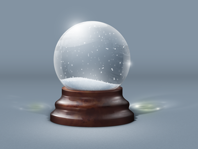how to make a snow globe in photoshop