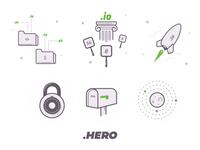 DomainHero Icons