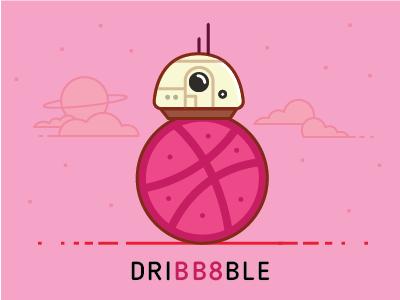 Hello dribbble thankyou starwars bb8
