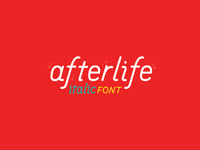 Afterlife italic font