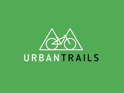 Urban Trails Logo trails urban mountain biking mountains bike vector logo