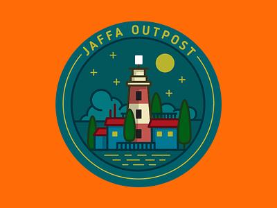 Jaffa Outpost vector telaviv logo night lighthouse jaffa