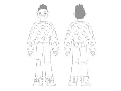 Character concept clean lines black boy boy procreate cute characterdesign character cartoon character illustration illustrator cartoon illustration cartoon 2d