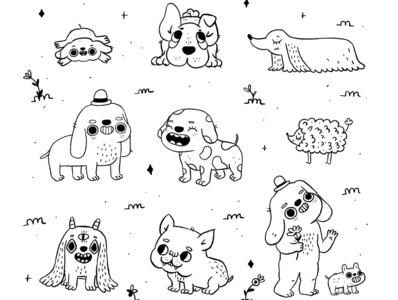 Dogos dogs dog procreate cute characterdesign character cartoon character illustration illustrator cartoon illustration cartoon 2d