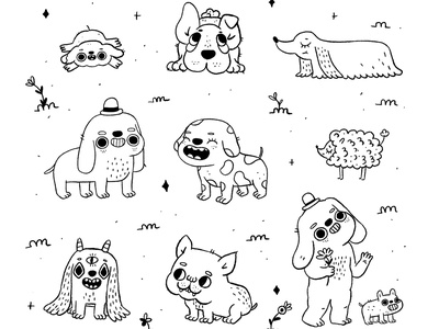 Dogos dogs dog procreate cute characterdesign character cartoon character illustration illustrator cartoon illustration cartoon 2d