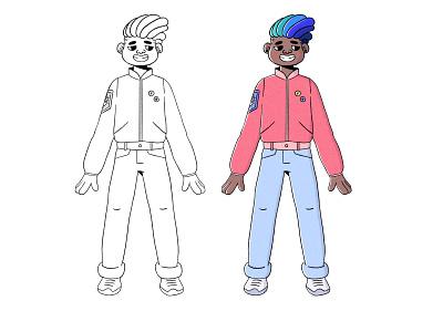 Cheeky boy pose procreate character characterdesign boy cartoon character illustration 2d illustrator cartoon illustration cartoon