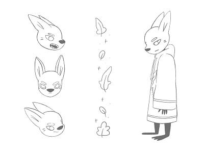 Fox Concept magical fox procreate cute characterdesign character cartoon character illustration illustrator cartoon illustration cartoon 2d
