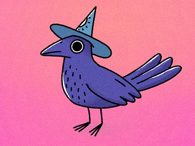 Crow master bird crow procreate characterdesign character cartoon character illustration illustrator cartoon illustration cartoon 2d