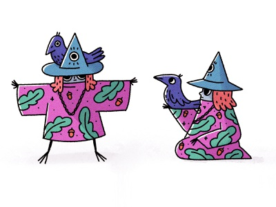 Crow master crow magic procreate characterdesign character cartoon character illustration illustrator cartoon illustration cartoon 2d