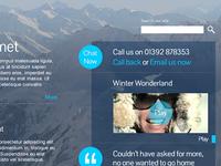 Alpine holiday website