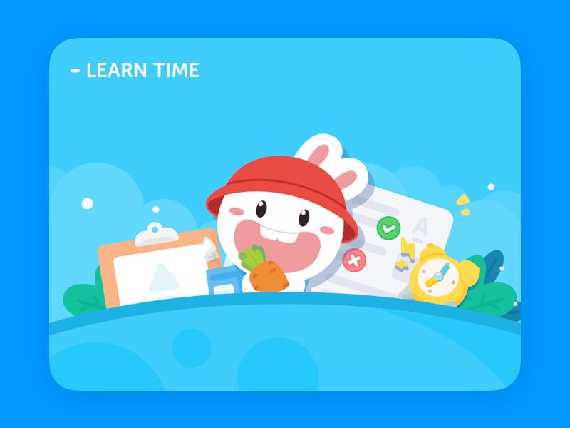 Learn time! animals web ui illustration icon design lovely illustrations
