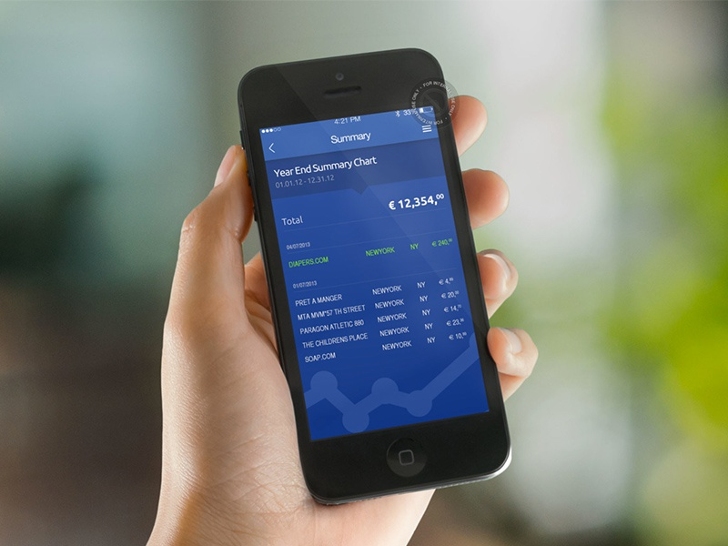 Online Banking - Summary Page iphone mobile summary bank ui ux ios