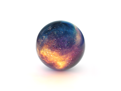 Crystal ball on the 404 page sphere galaxy space 404 crystal ball palantir 3d
