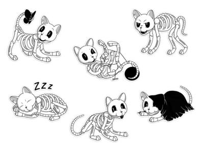 Bonycat stickers for Telegram app
