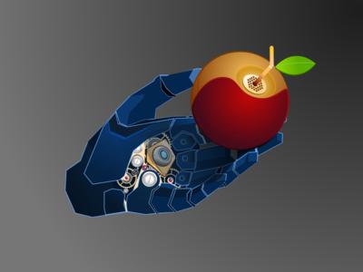 Apple hand apple