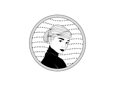 Audrey Hepburn 名人 插画